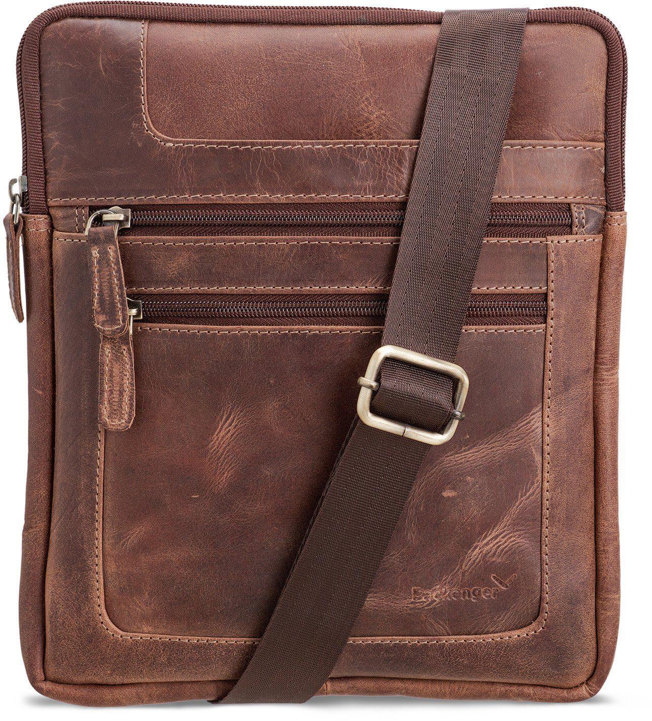 Packenger Umhängetasche mit 10,1-Zoll Tabletfach, »Thuras, vintage«