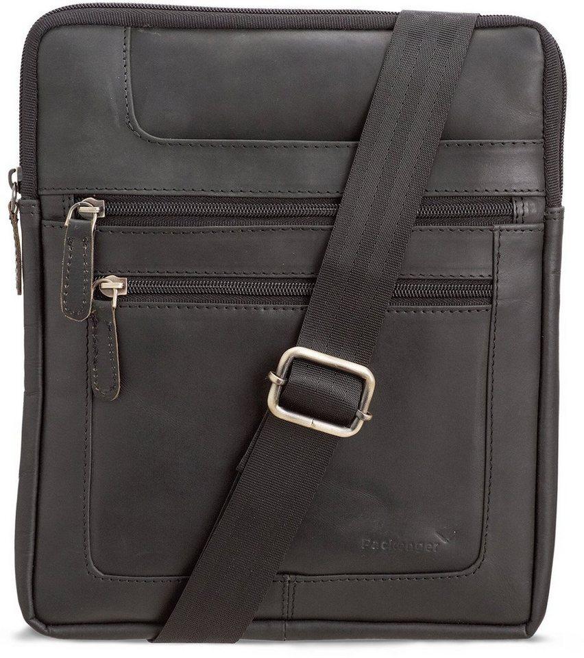 Packenger Umhängetasche mit 10,1-Zoll Tabletfach, »Thuras, schwarz« in schwarz