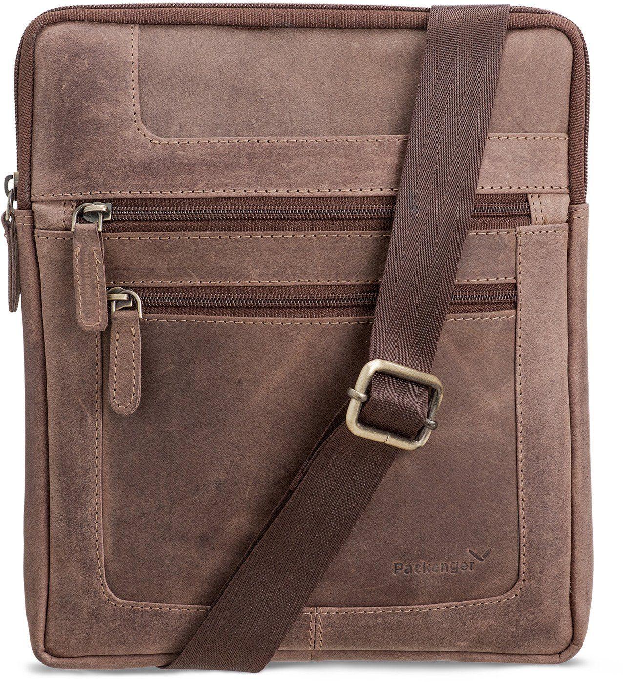 Packenger Umhängetasche mit 10,1-Zoll Tabletfach, »Thuras, dunkelbraun«
