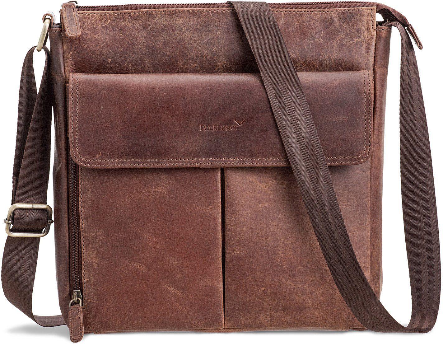 Packenger Messengerbag mit 12-Zoll Tablettasche, »Horik, vintage«