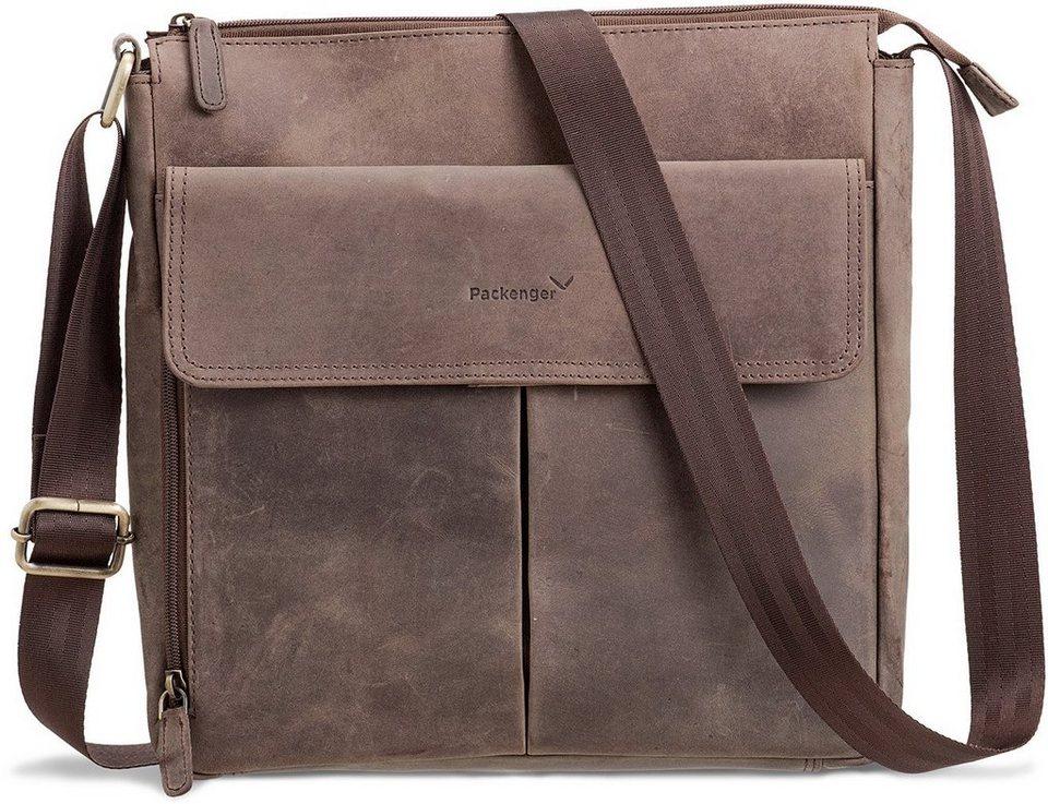 Packenger Messengerbag mit 12-Zoll Tablettasche, »Horik, grau« in grau