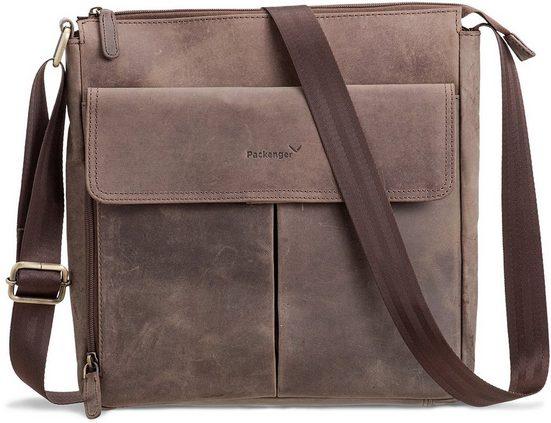 Packenger Messengerbag mit 12-Zoll Tablettasche, Horik, grau