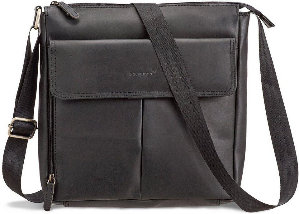 Packenger Messengerbag mit 12-Zoll Tablettasche, »Horik, schwarz« in schwarz