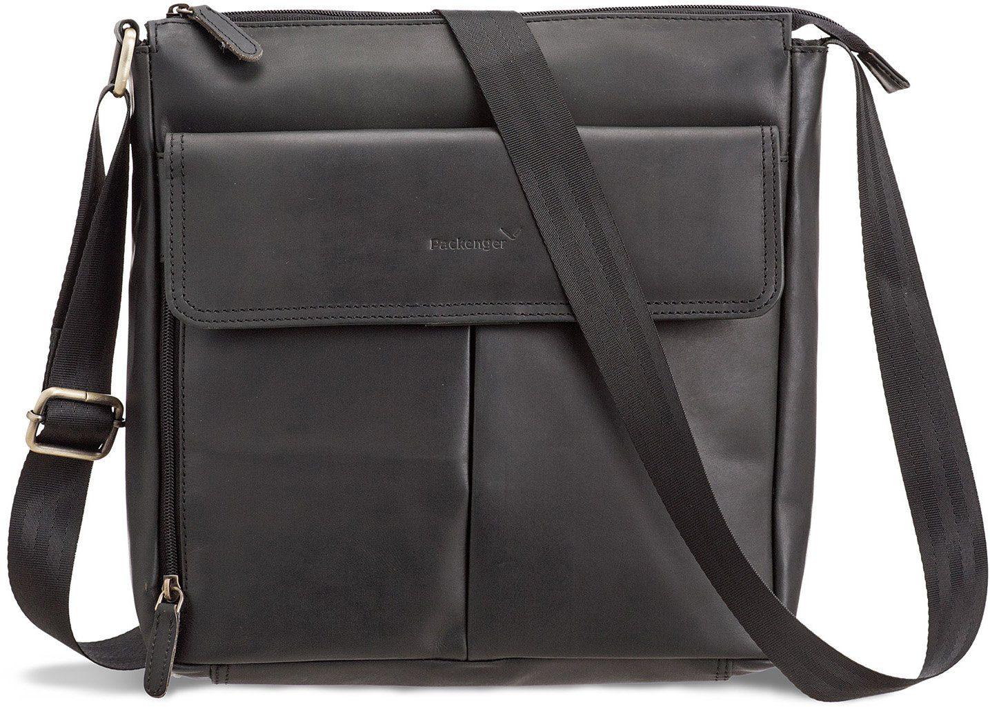 Packenger Messengerbag mit 12-Zoll Tablettasche, »Horik, schwarz«