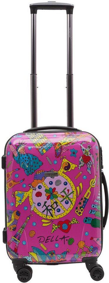 Packenger Hartschalentrolley mit 4 Rollen, »OneWorld by Della« in pink
