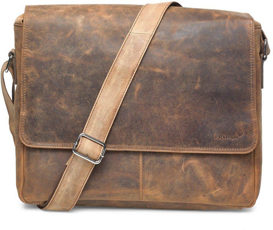 Packenger Messengerbag mit 15-Zoll Laptopfach, »Vethorn, vintage« in vintage