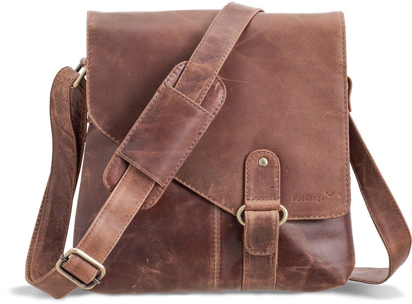 Packenger Umhängetasche mit 10,1-Zoll Tabletfach, »Kraka, vintage«