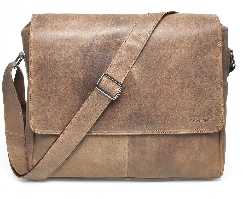 Packenger Messengerbag mit 15-Zoll Laptopfach, »Vethorn, hellbraun«