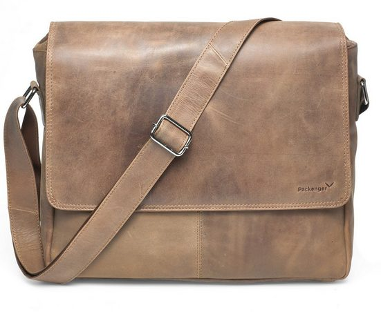 Packenger Messenger Bag »Vethorn, hellbraun«, mit 15-Zoll Laptopfach