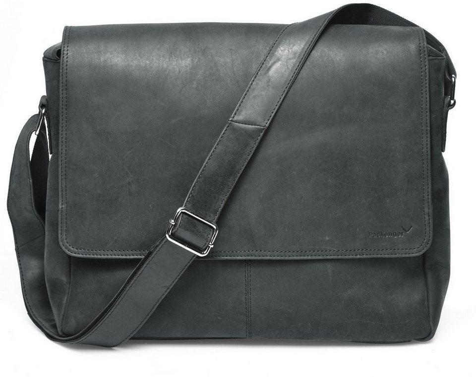 Packenger Messengerbag mit 15-Zoll Laptopfach, »Vethorn, schwarz« in schwarz