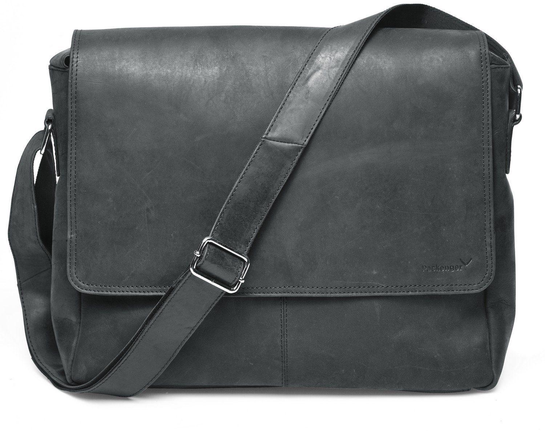 Packenger Messengerbag mit 15-Zoll Laptopfach, »Vethorn, schwarz«