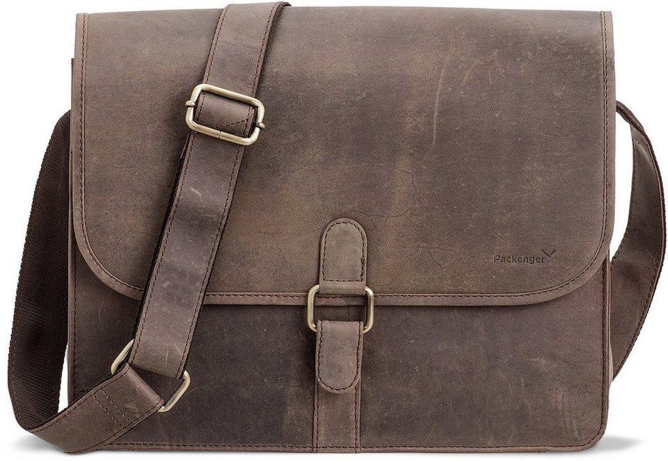 Packenger Umhängetasche mit 14-Zoll Laptopfach, »Aslang, grau« in grau