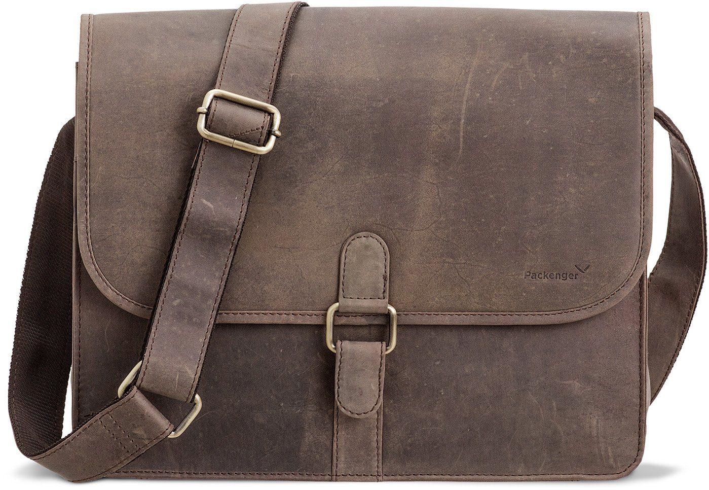Packenger Umhängetasche mit 14-Zoll Laptopfach, »Aslang, grau«