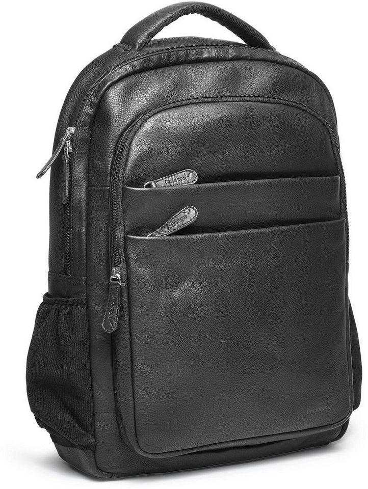 Packenger Rucksack mit 15-Zoll Laptoptasche, »Kjaran, schwarz« in schwarz