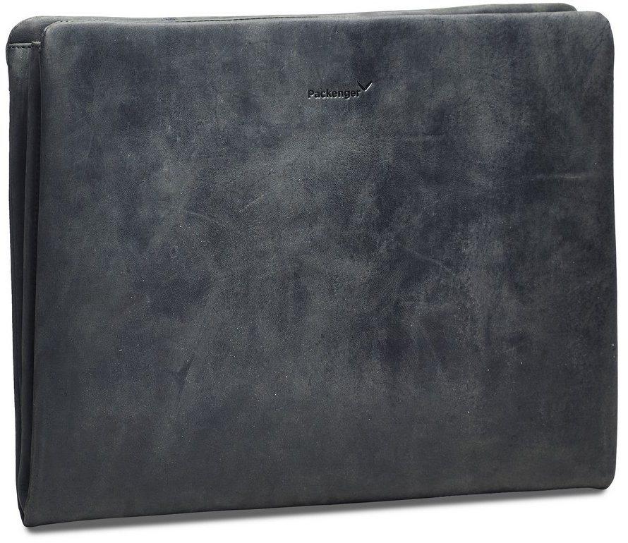 Packenger Dokumentenmappe mit 15-Zoll Lapfach, »Adam, schwarz« in schwarz