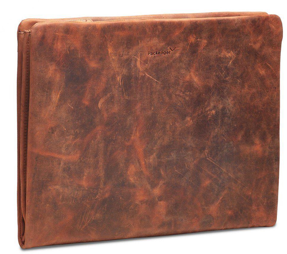 Packenger Dokumentenmappe mit 15-Zoll Lapfach, »Adam, cognac«