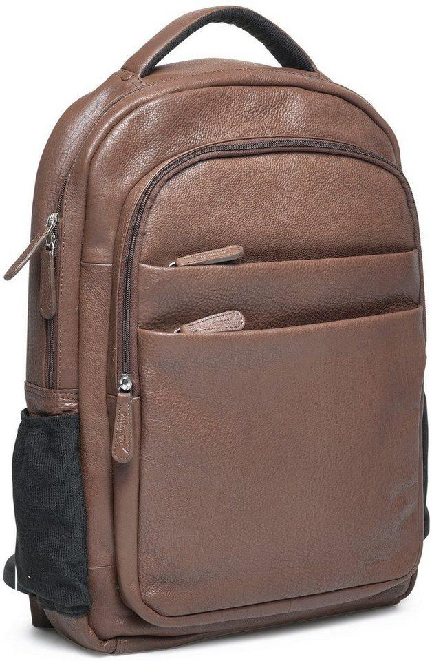 Packenger Rucksack mit 15-Zoll Laptoptasche, »Kjaran, braun« in braun