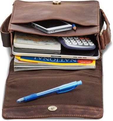 Mit Packenger Vintage« zoll 10 Tabletfach »olaf 1 Umhängetasche 5wwBvZ