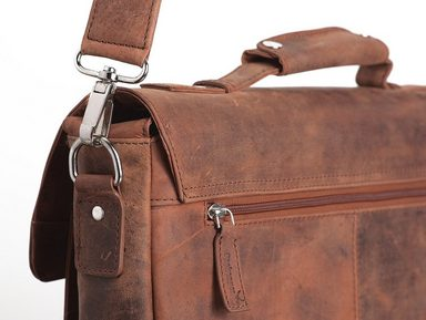 Umhängetasche Packenger Cognac« Laptopfach »kolbjorn zoll Mit 15 4wyqAF7w