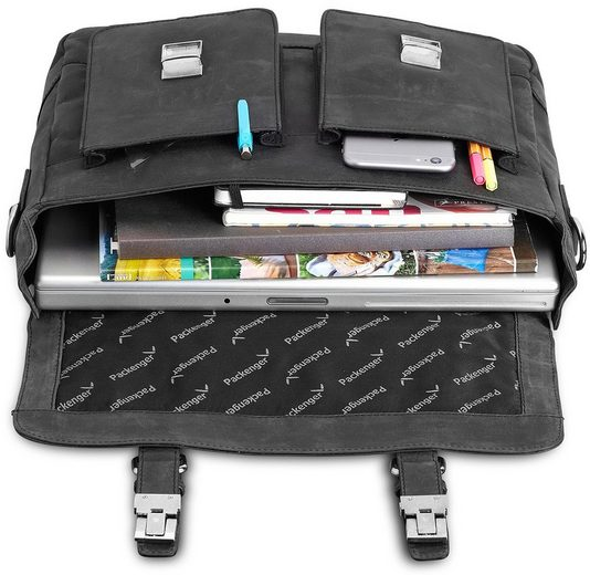 Packenger Umhängetasche mit 15-Zoll Laptopfach, Kolbjorn, schwarz