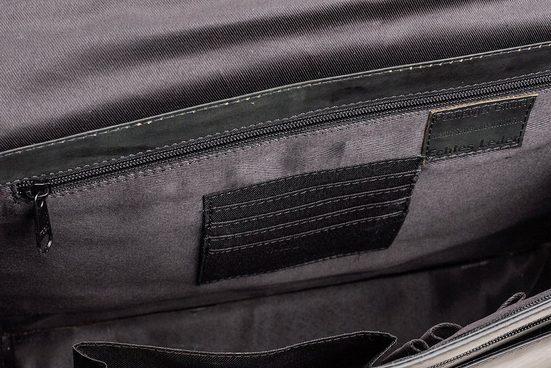 Packenger Umhängetasche mit 14-Zoll Laptopfach, Aslang, schwarz