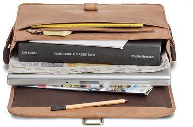 Packenger zoll Laptopfach Mit 14 Hellbraun« »aslang Umhängetasche wrCqp0tPr