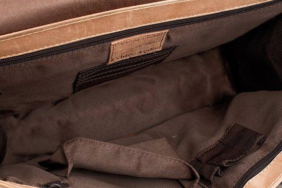 Packenger Umhängetasche mit 14-Zoll Laptopfach, Aslang, hellbraun