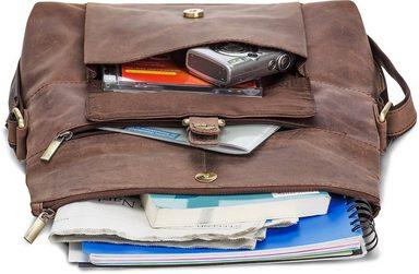 Umhängetasche Dunkelbraun« Tabletfach zoll »ivar Mit 10 Packenger gTwqzdpd