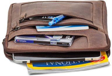 Mit 10 Tabletfach zoll Umhängetasche 1 Packenger Dunkelbraun« »thuras qpOSW