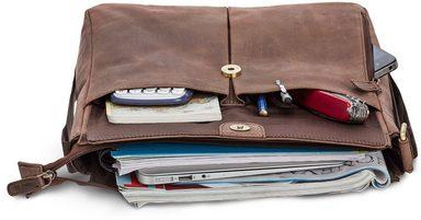 Messengerbag zoll »horik Dunkelbraun« 12 Packenger Mit Tablettasche Owqgn8d