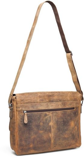 Messengerbag Pack Closely With 15-inch Laptop Compartment, Vethorn, Vintage
