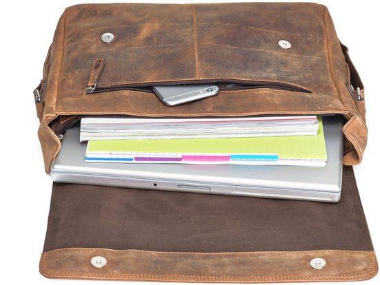 Sac Messenger Avec Compartiment Pour Ordinateur Portable De 15 Pouces, Vethorn, Vintage
