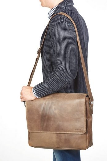 Packenger Messenger Bag »Vethorn  hellbraun«  mit 15-Zoll Laptopfach