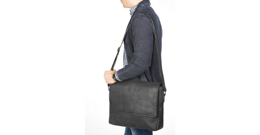 Packenger Messengerbag mit 15-Zoll Laptopfach, Vethorn, schwarz