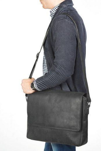 Laptopfach zoll »vethorn Packenger Messengerbag 15 Mit Schwarz« txaaqITXw