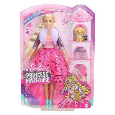 Mattel® Puppen Accessoires-Set »Mattel GML76 - Barbie - Princess Adventure - Puppe mit Hund und Zubehör, Prinzessin«