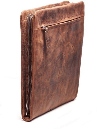 Packenger Dokumentenmappe mit 15-Zoll Lapfach, Adam, cognac