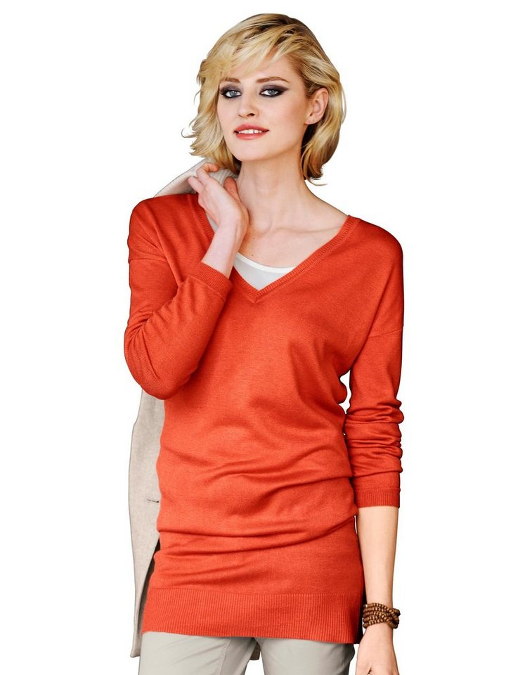 Alba Moda Pullover in orange
