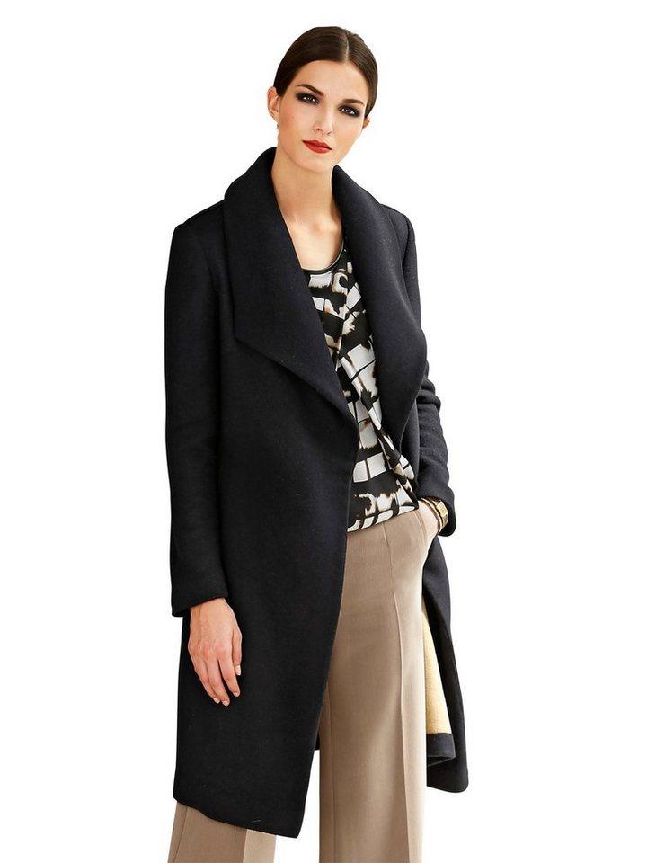 Alba Moda Mantel in schwarz