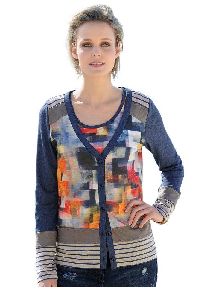Alba Moda Shirtjacke in blaumulti