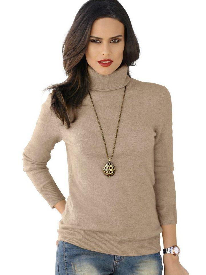 Alba Moda Pullover in camelmelang