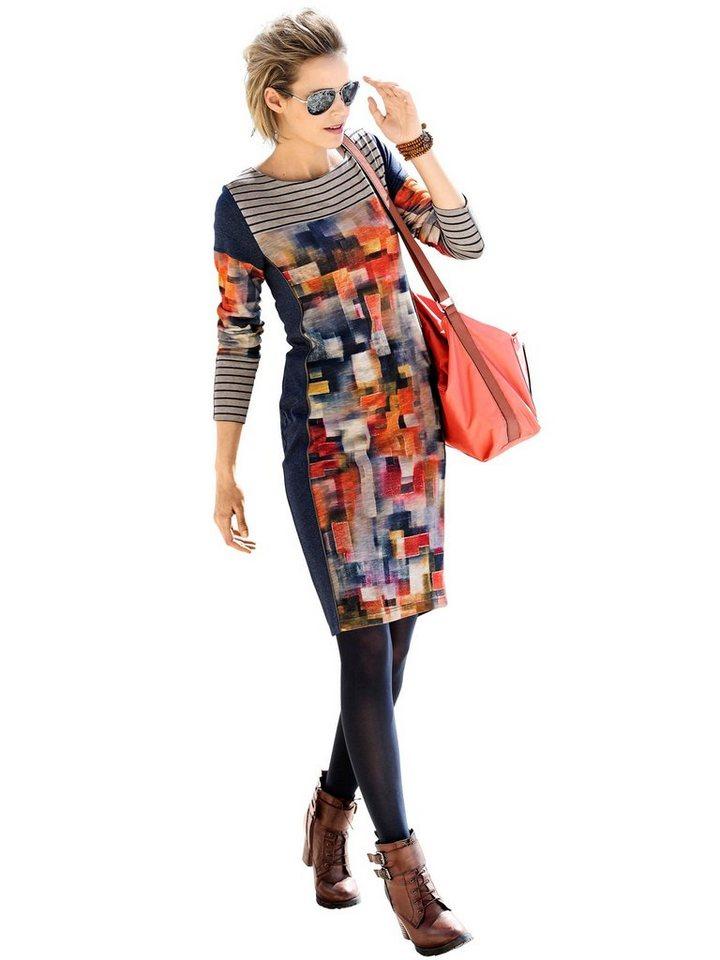 Alba Moda Jerseykleid in blaumulti