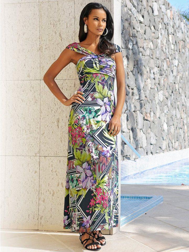 Alba Moda Kleid in schwarz/multi