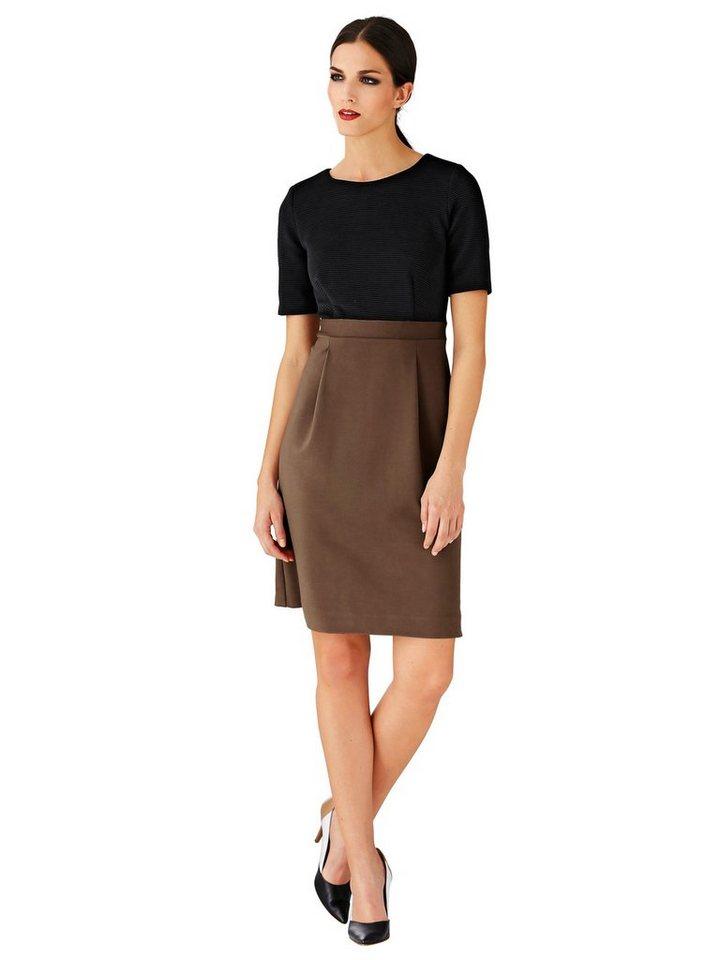 Alba Moda Kleid in cognac/schwarz