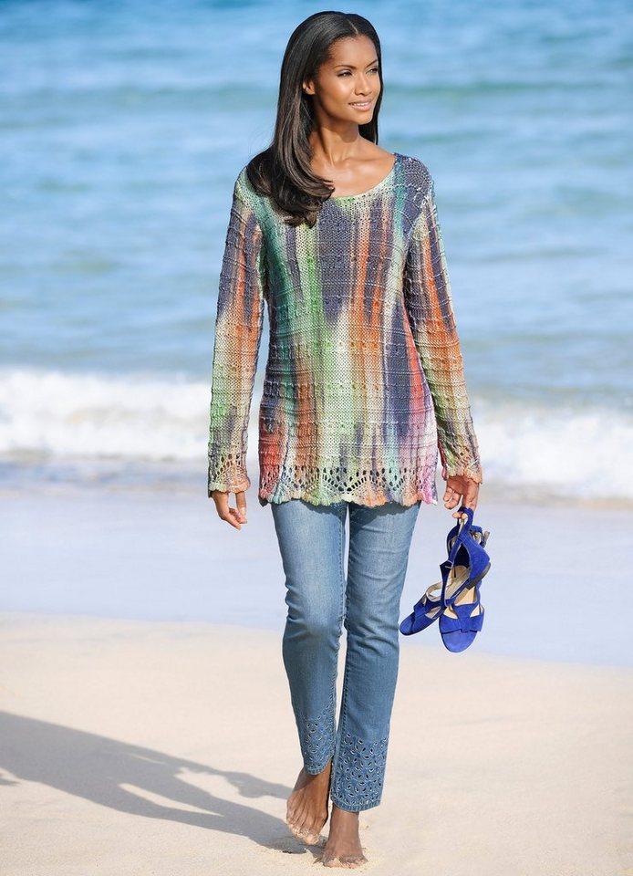 Alba Moda Pullover in grau/multi
