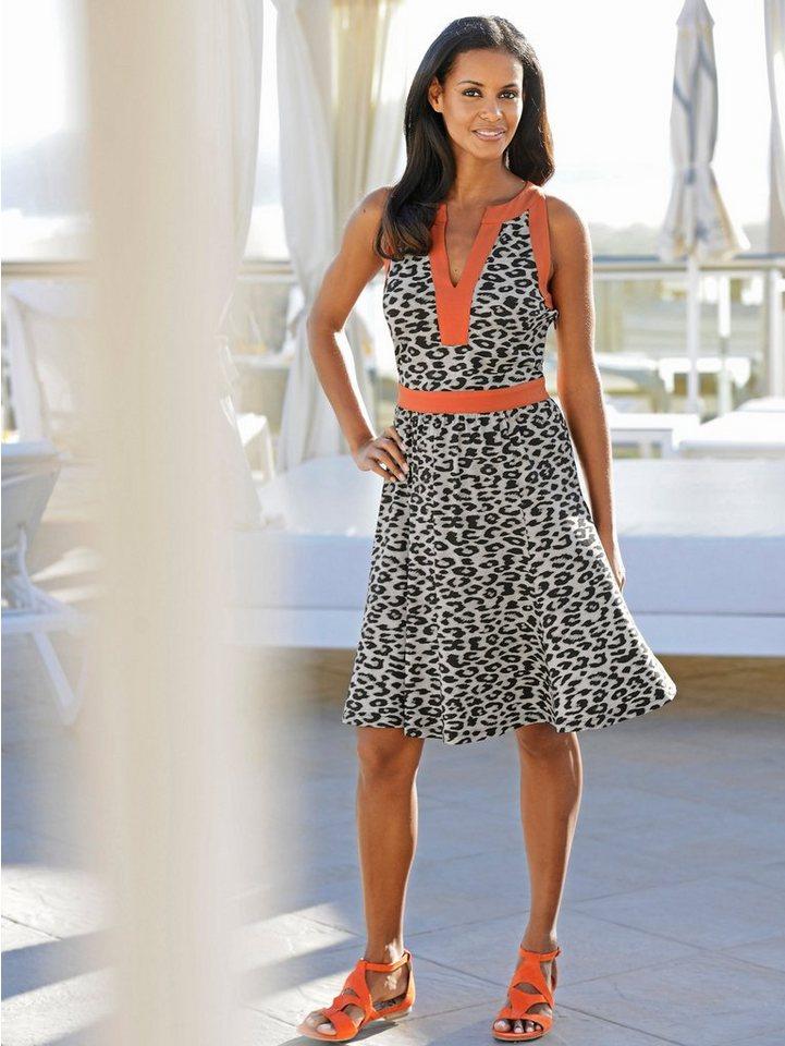 Alba Moda Strandkleid in beige/orange