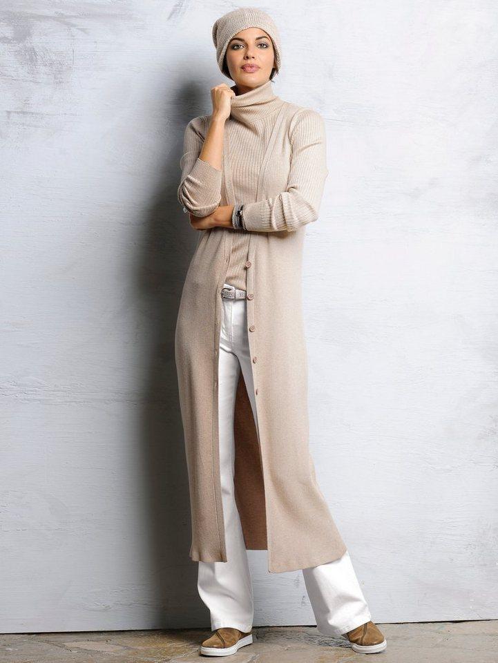 Alba Moda Strickweste in beigemelange