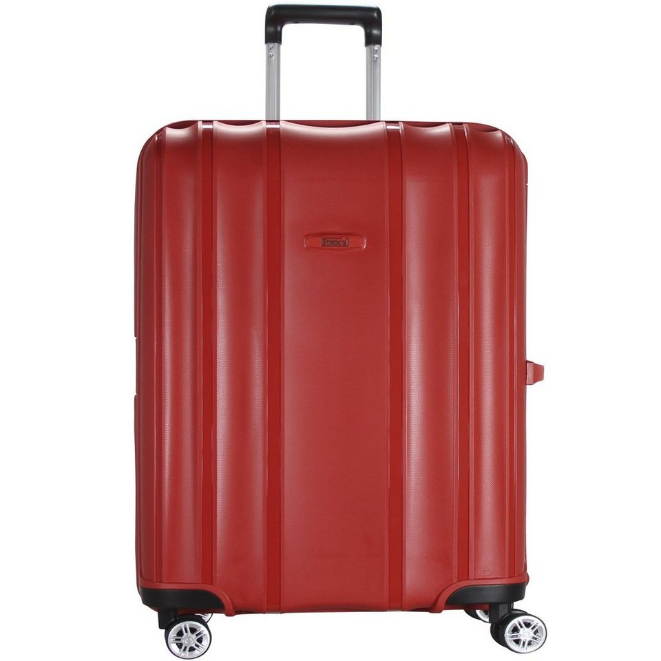 Stratic Safe 4-Rollen Trolley 75 cm in red