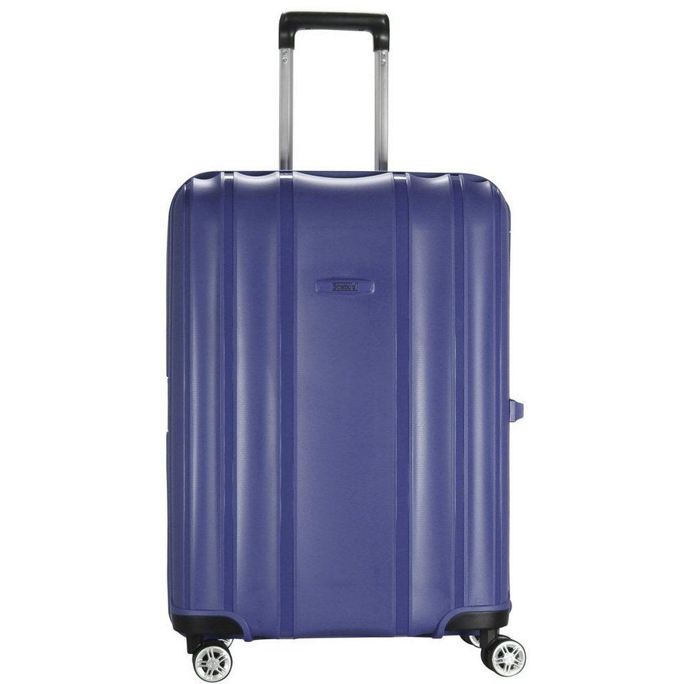 Stratic Safe 4-Rollen Trolley 66 cm in blue