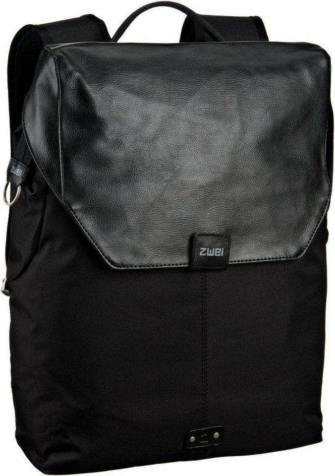 zwei Olli O14 Rucksack in Black